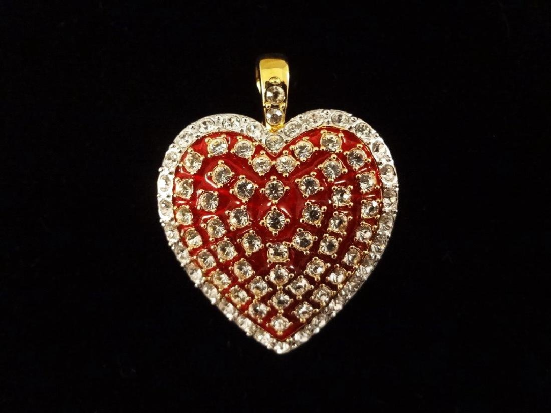 (6) Nolan Miller Heart and Bow Pendants and Brooches - 7