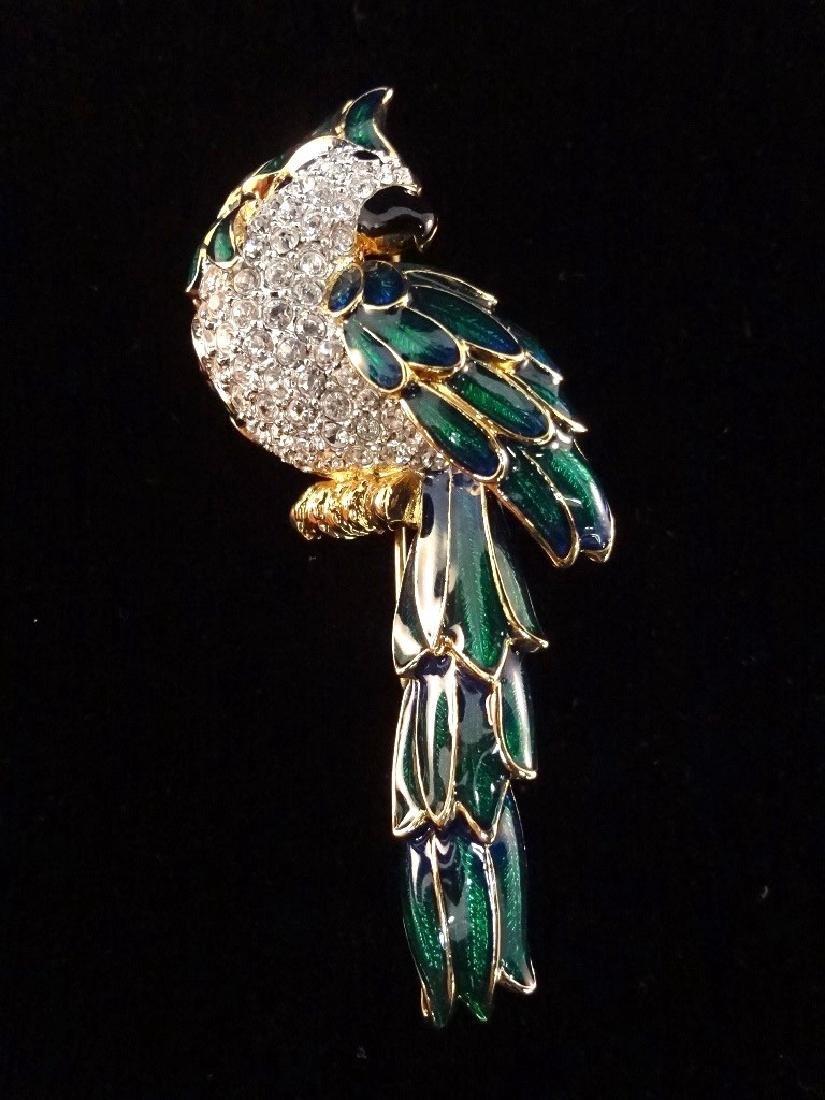 Nolan Miller Vintage (4) Oversize Bird Brooches: - 4