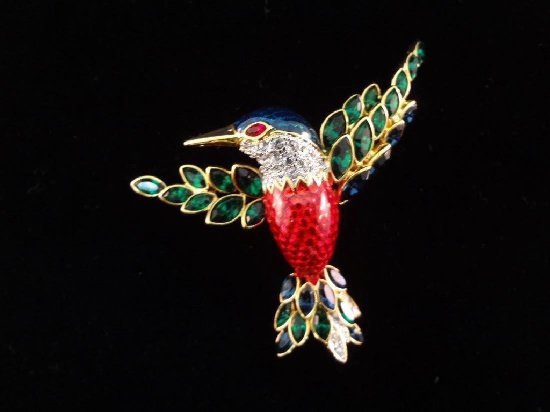 Nolan Miller Vintage (4) Oversize Bird Brooches: - 5