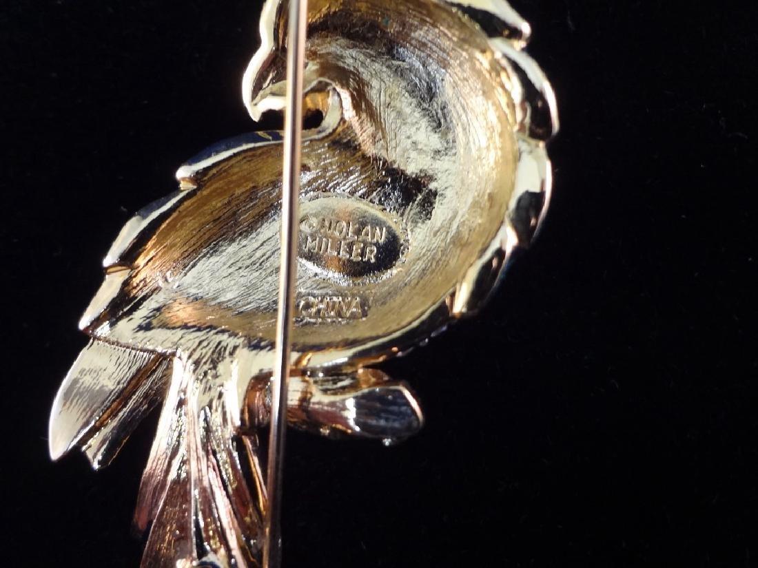 Nolan Miller Vintage (4) Oversize Bird Brooches: - 6
