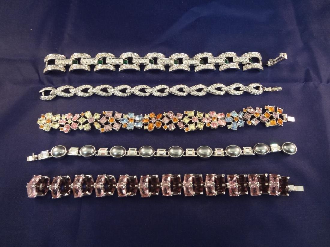 (5) Nolan Miller Rhinestone Vintage Bracelets