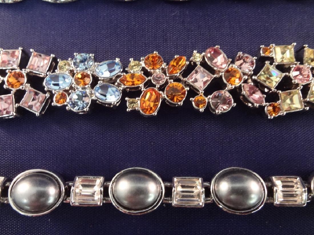 (5) Nolan Miller Rhinestone Vintage Bracelets - 3