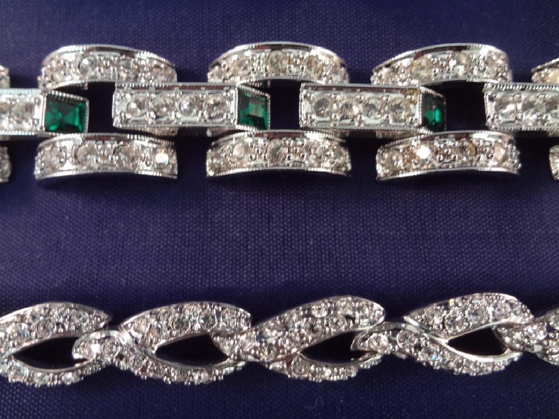 (5) Nolan Miller Rhinestone Vintage Bracelets - 4