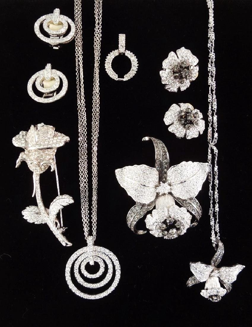(2) Nolan Miller Necklace, Brooch and Earrings Sets