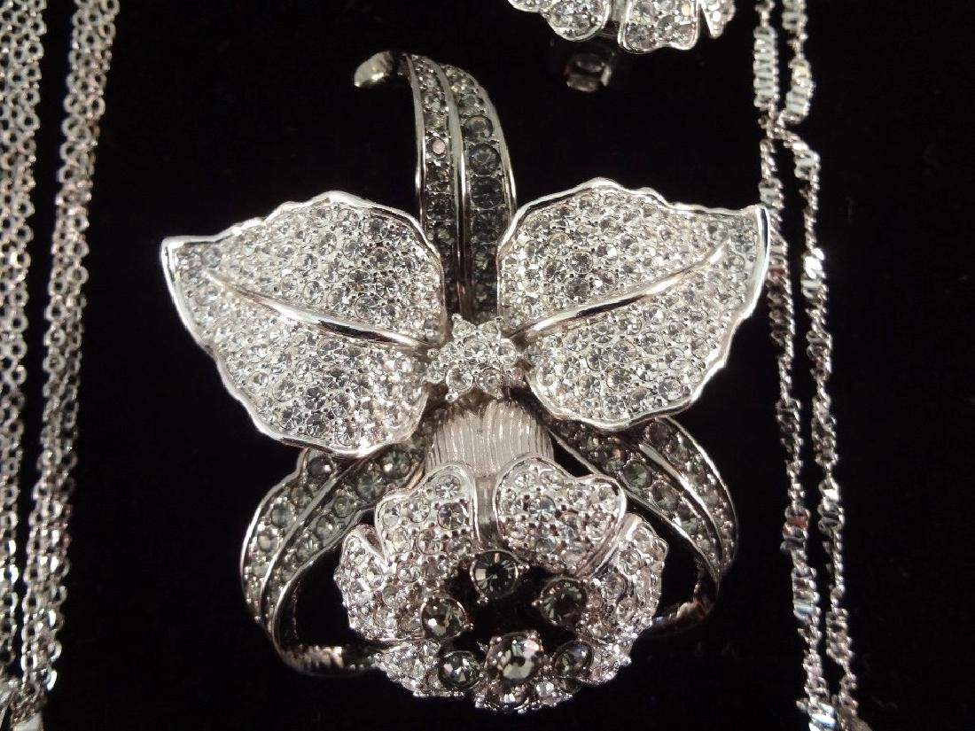 (2) Nolan Miller Necklace, Brooch and Earrings Sets - 3