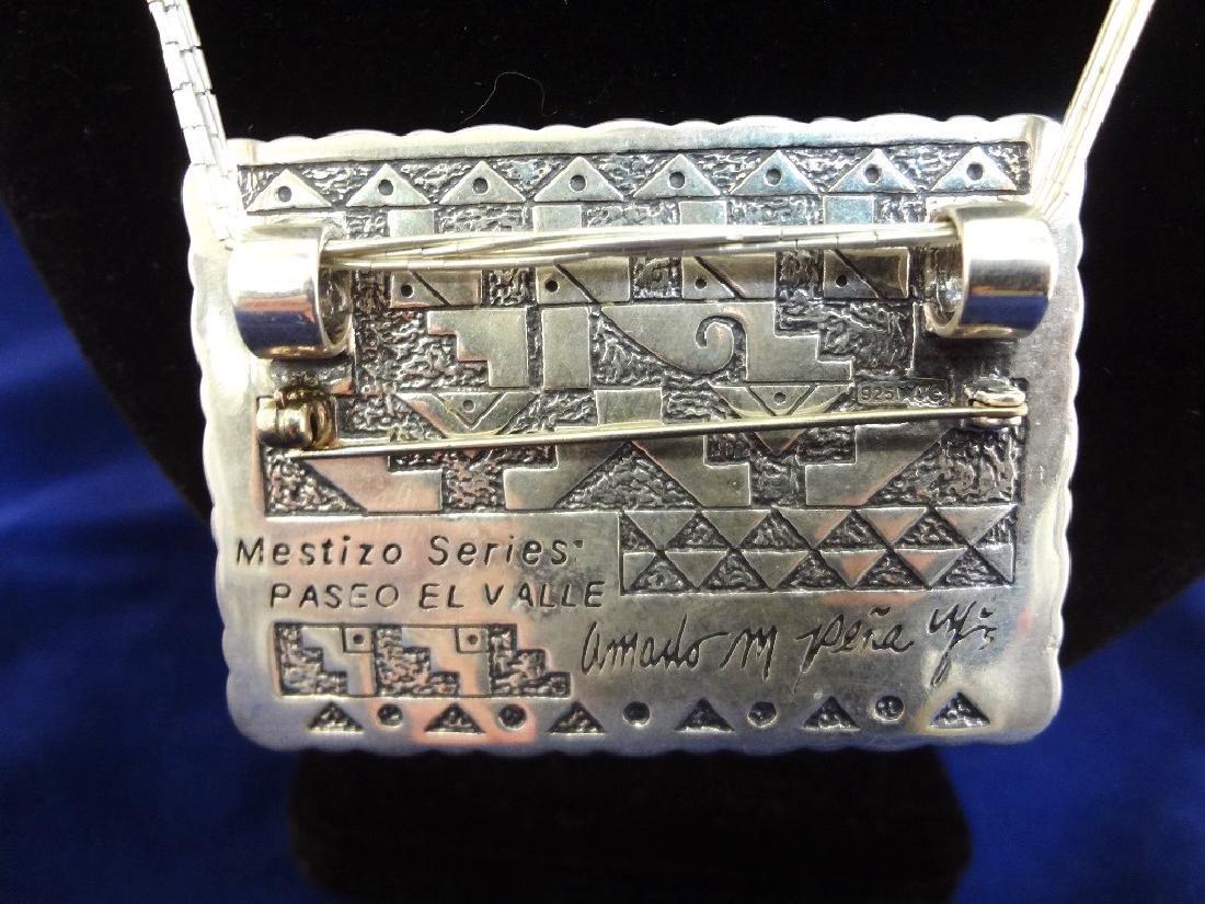 Sterling Silver Mestizo Series Pendant Amado Pena Jr. - 4