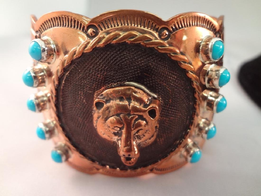 Chaco Canyon Large Chunky Sterling and Turquoise - 5