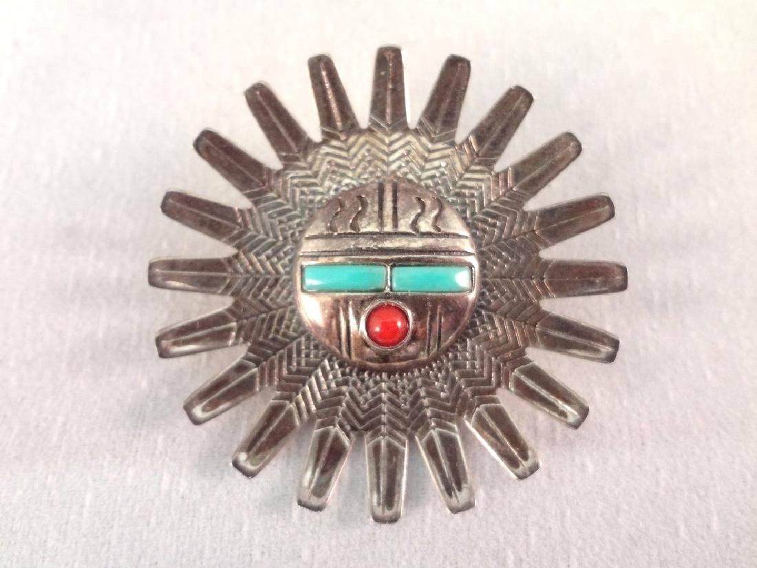 Southwest Sterling and Turquoise Brooches and Charms - 7