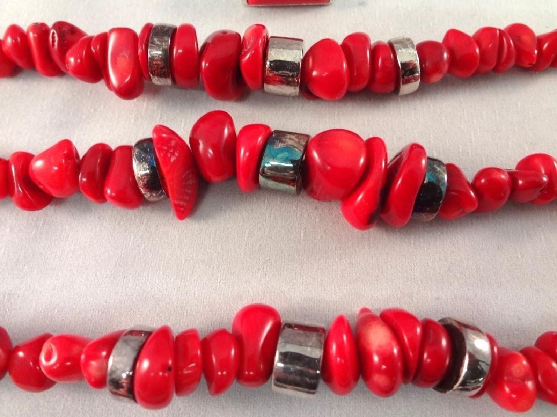 (4) Robert Lee Morris Sterling Silver Bracelets and (1) - 3