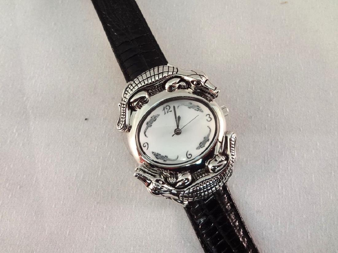 Barry Kieselstein Cord Alligator Sterling Silver Watch