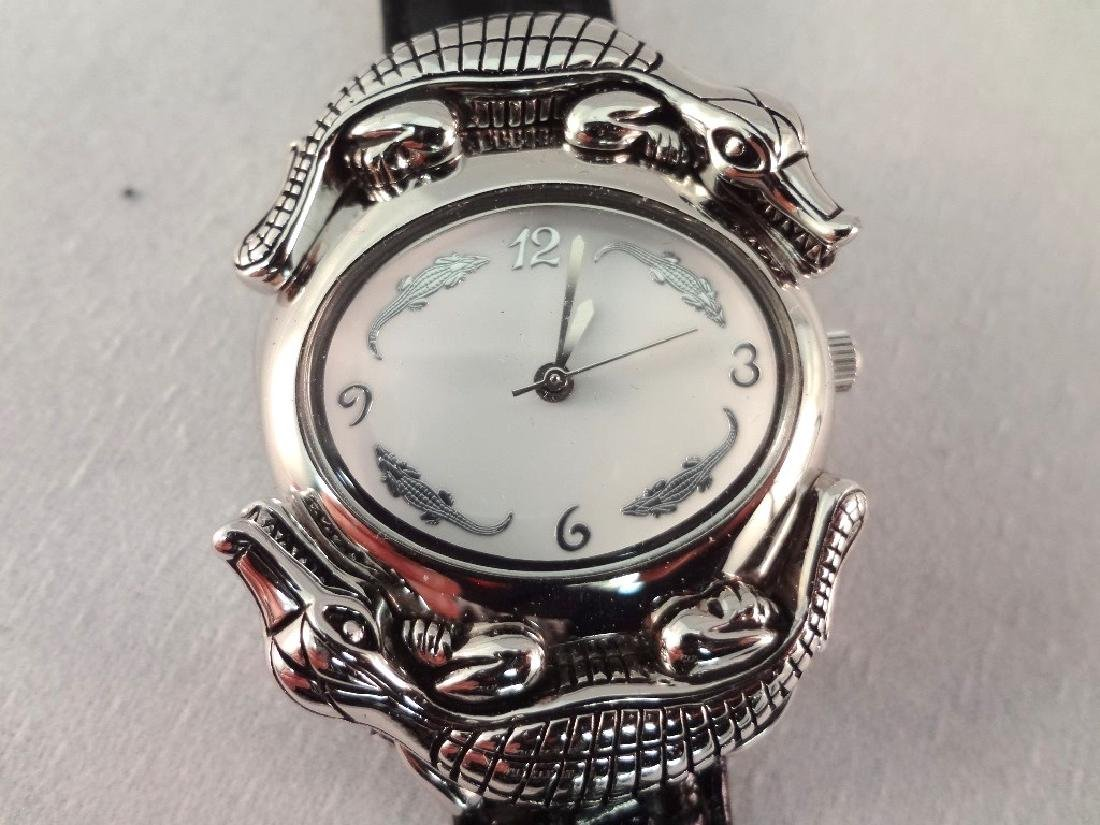 Barry Kieselstein Cord Alligator Sterling Silver Watch - 4
