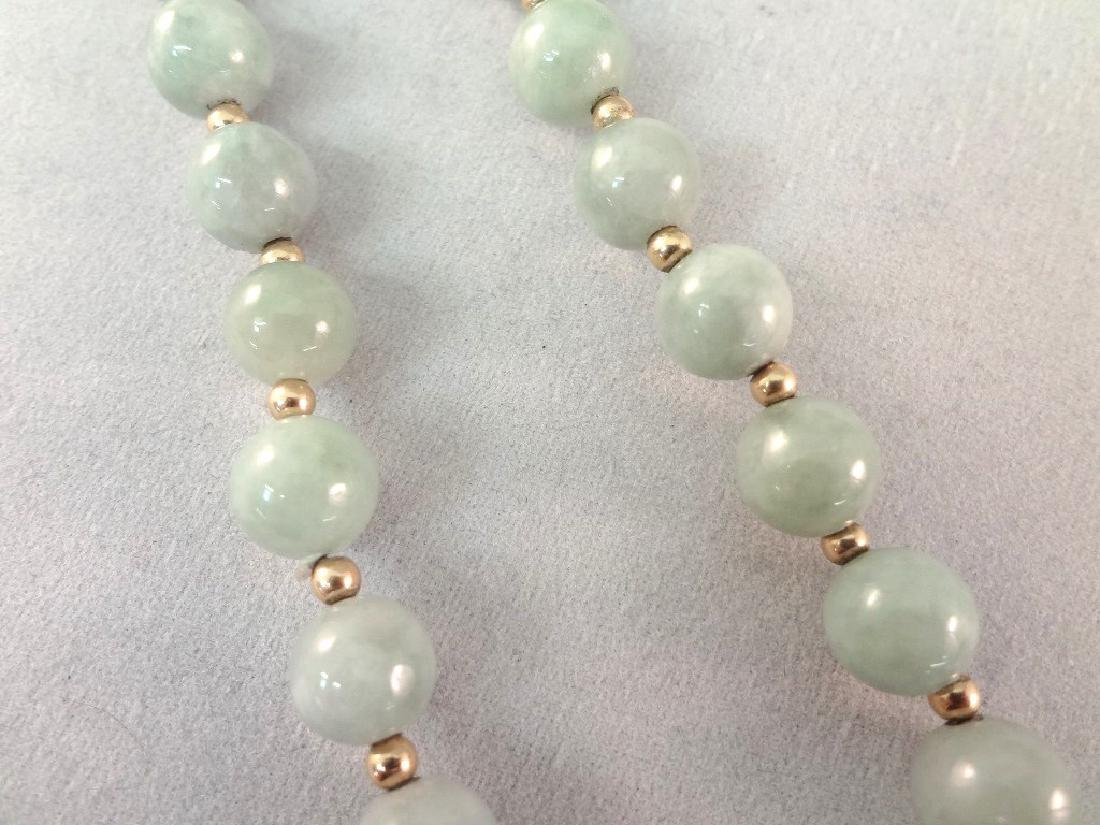 14K Gold and Multi-color Jade Necklace, Pendant and - 7