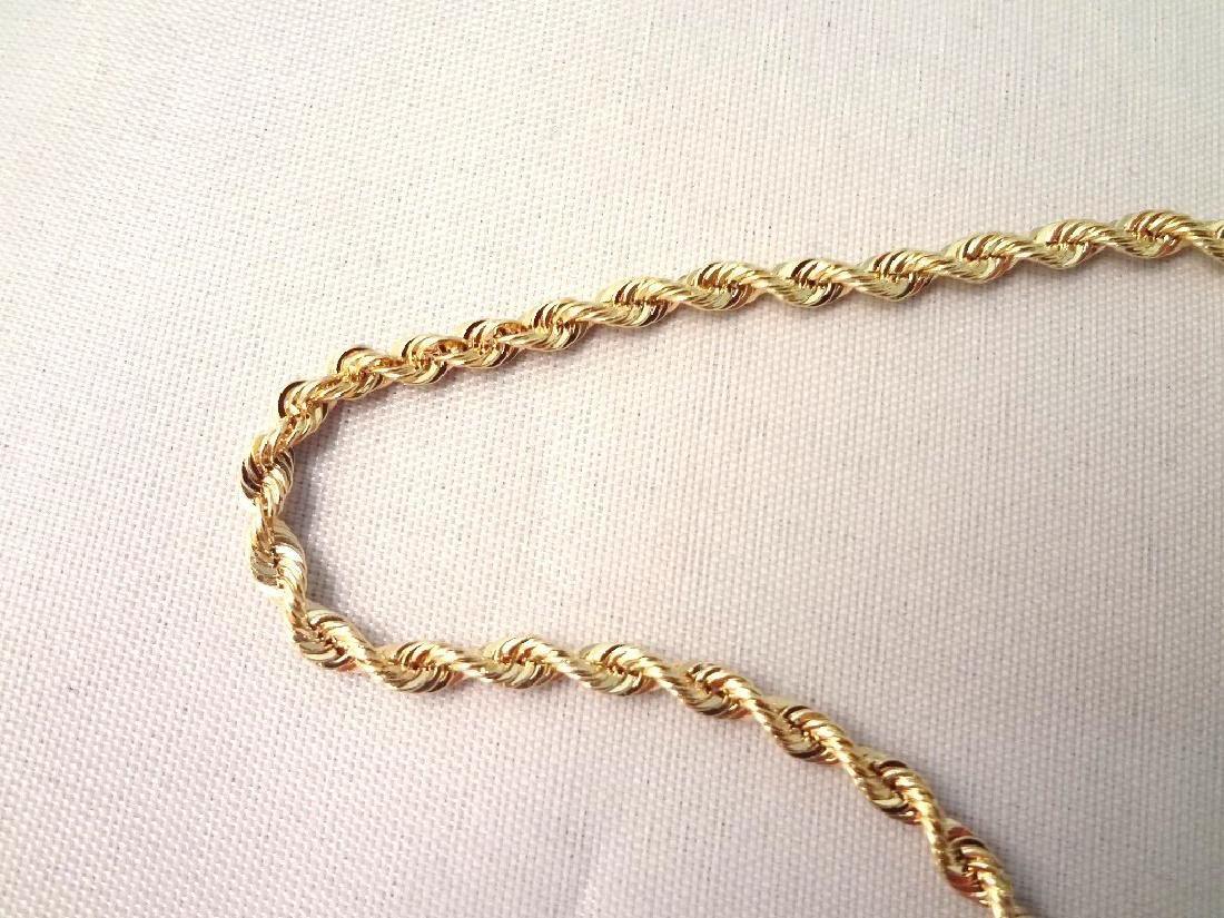 """14K Gold Necklace Rope Chain 32"""" Long, .14 troy ounces - 2"""