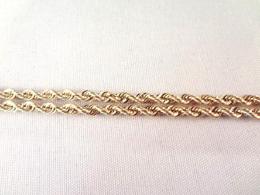 """14K Gold Necklace Rope Chain 32"""" Long, .14 troy ounces - 4"""