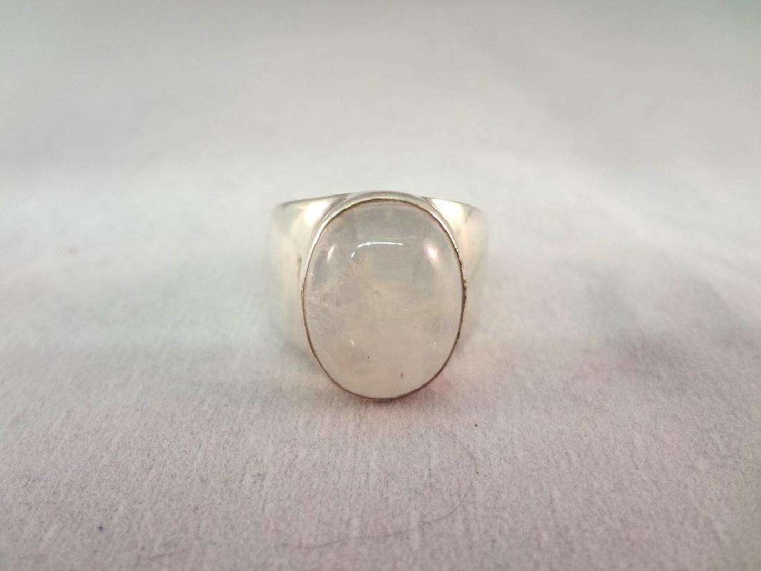 (4) Sterling Silver and 14K Gold Rings with Stones - 2