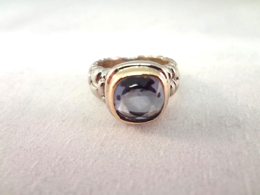 (4) Sterling Silver and 14K Gold Rings with Stones - 5