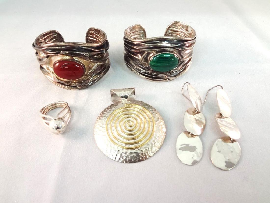 Dominique Dinouart Sterling Silver Jewelry Group: (2)