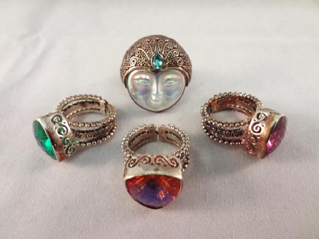 (4) Sajen Sterling Silver Chunky Cocktail Rings