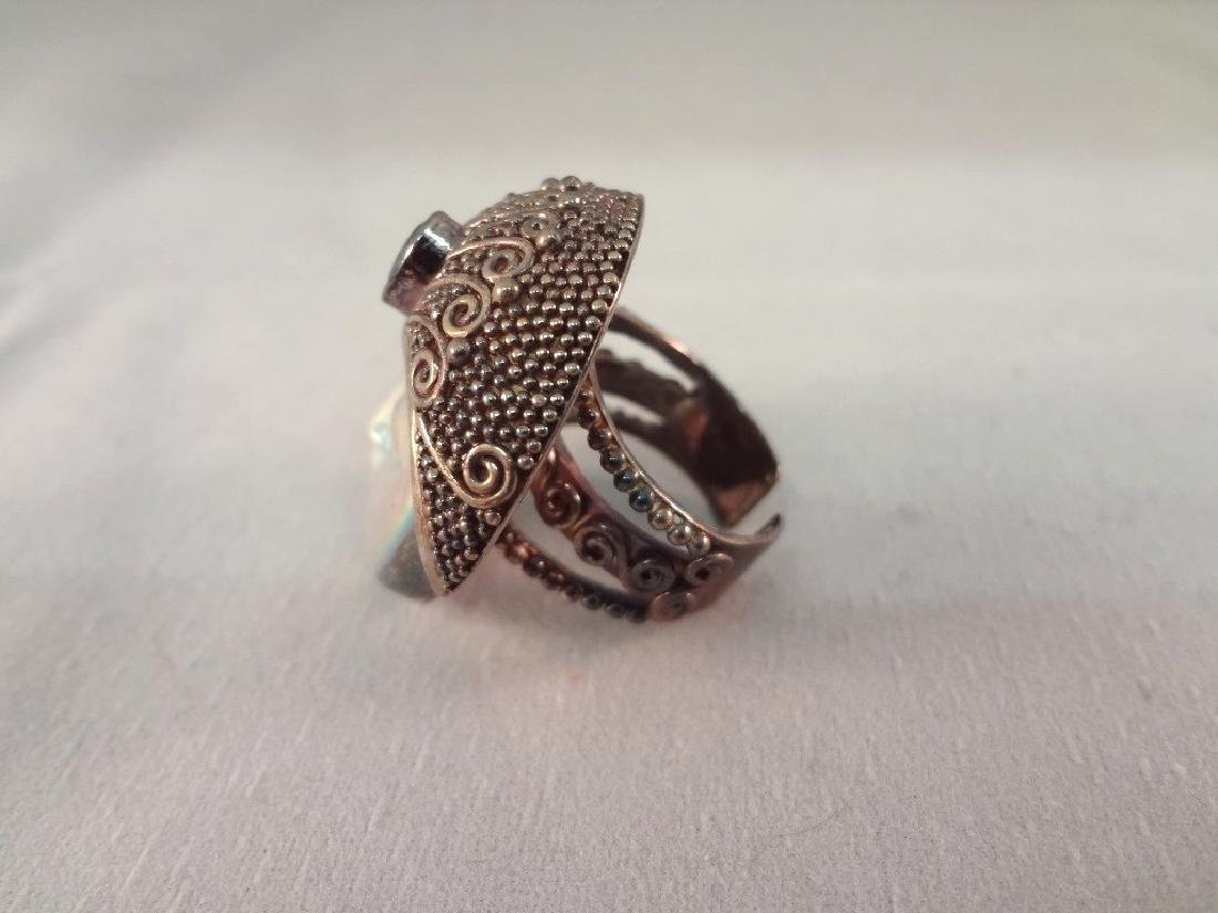 (4) Sajen Sterling Silver Chunky Cocktail Rings - 3