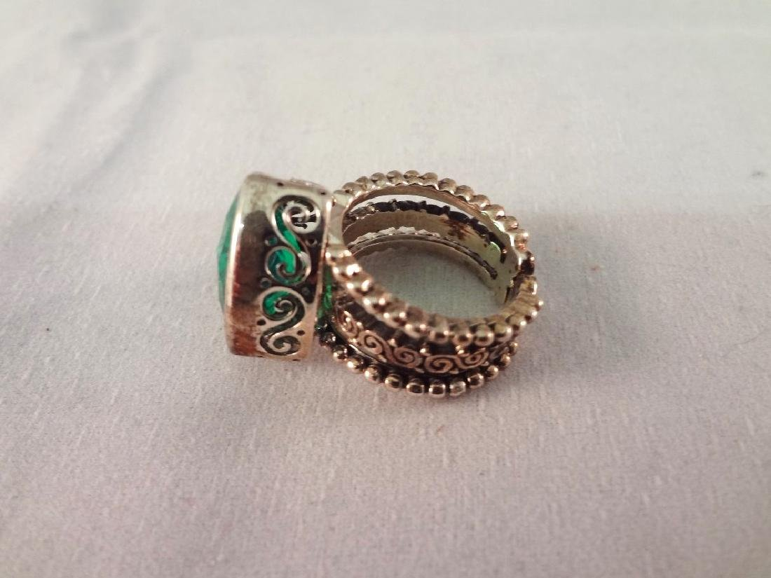 (4) Sajen Sterling Silver Chunky Cocktail Rings - 5