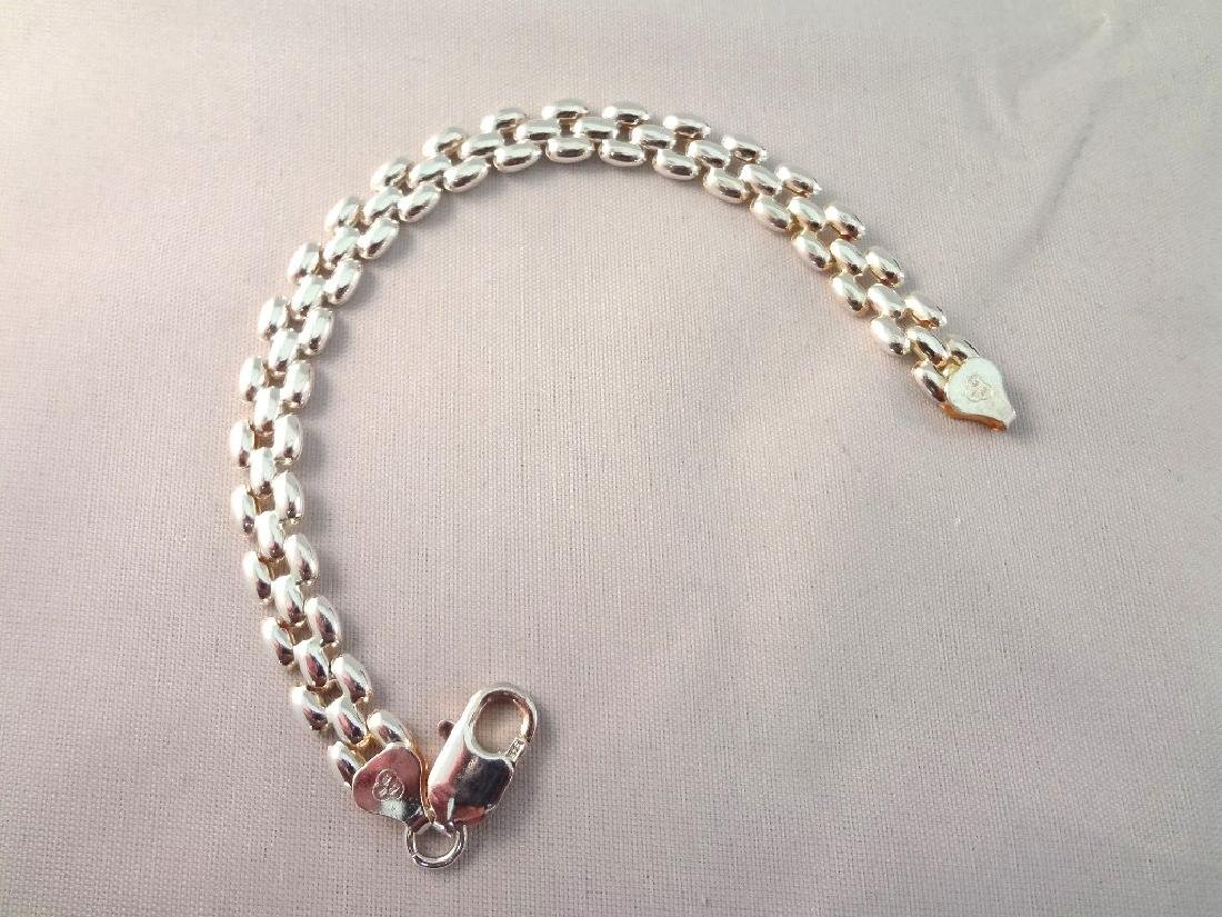 (4) Italian Sterling Silver Panther Style Bracelets TW - 2