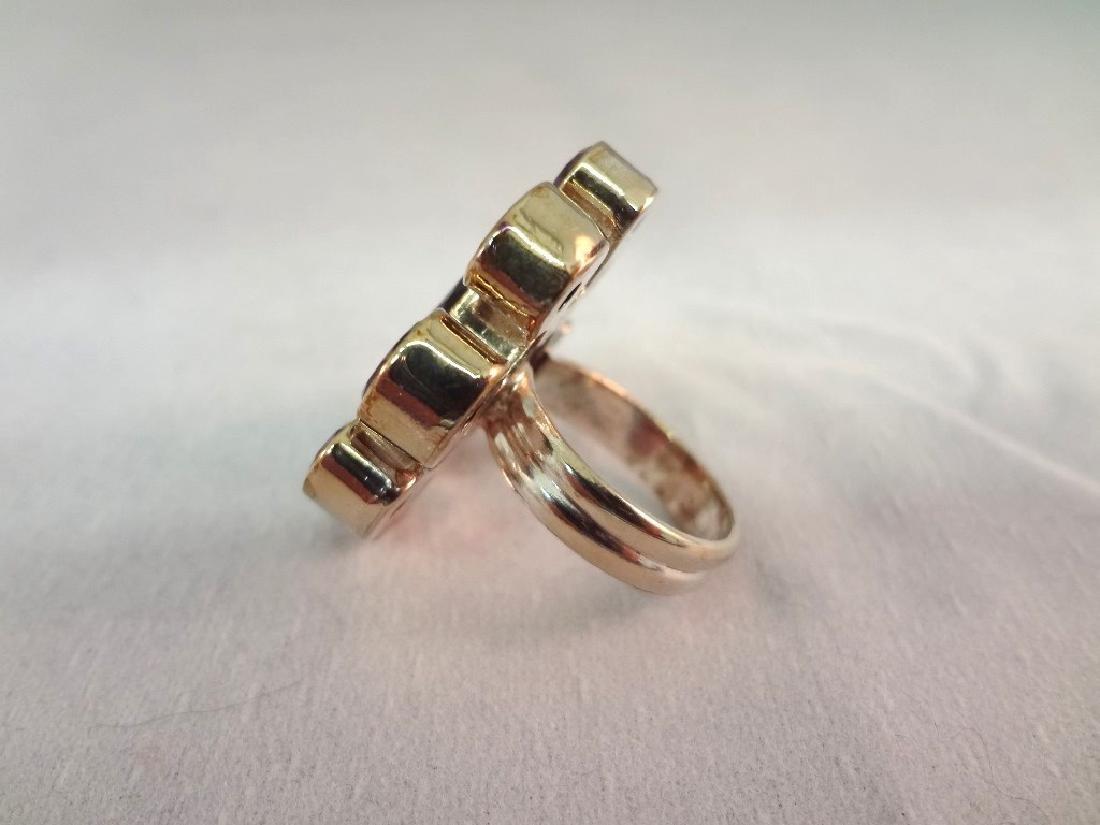 (3) Sterling Silver Rings: 18K gold, Amethyst - 3
