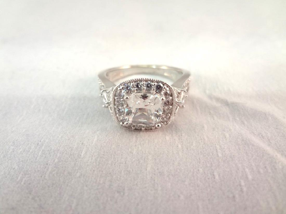 (3) Sterling Silver Rings All with Cubic Zirconias - 4