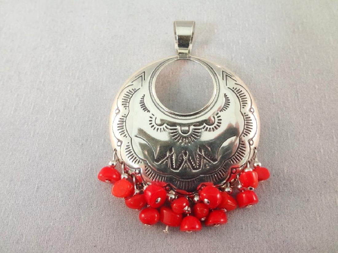 Sterling Silver Red Coral and Turquoise Jewelry Group: - 2