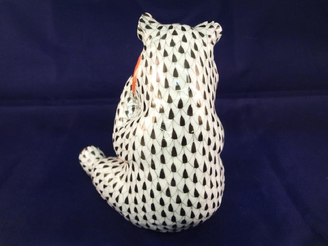 "Herend Porcelain Figurine ""Panda Fishnet"" - 3"