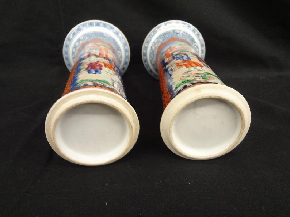 Pair of Chinese Porcelain Hand Painted Vases - 5