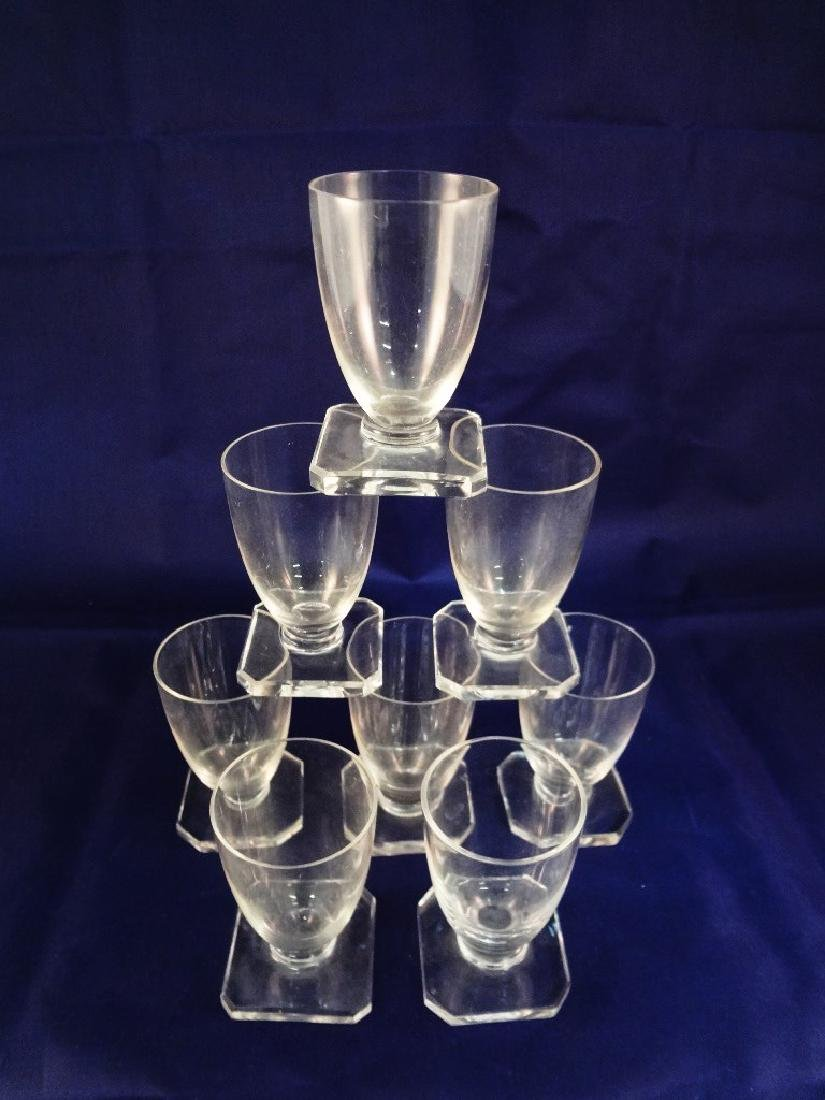 Daum Nancy Glass (8) Clear Cordials