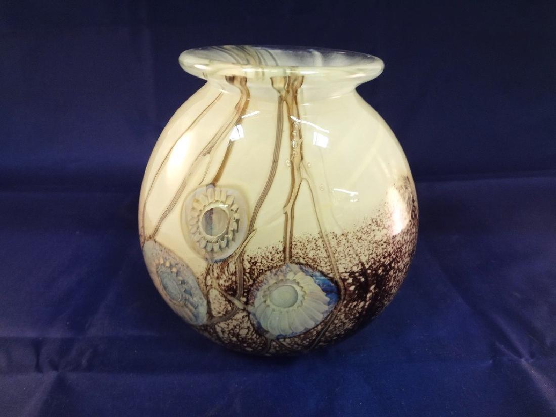 Robert Eickholt Signed Glass Hyancinth Pillow Seascape