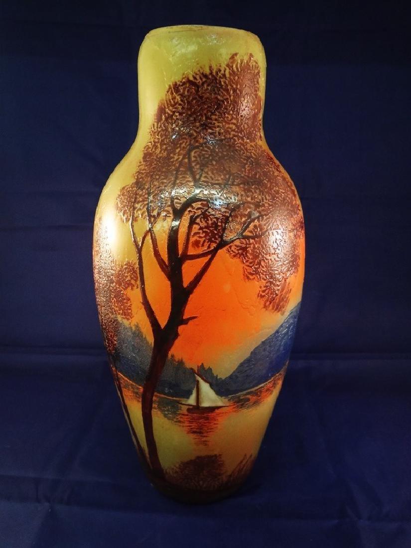 French Legras Cameo Art Glass Vase