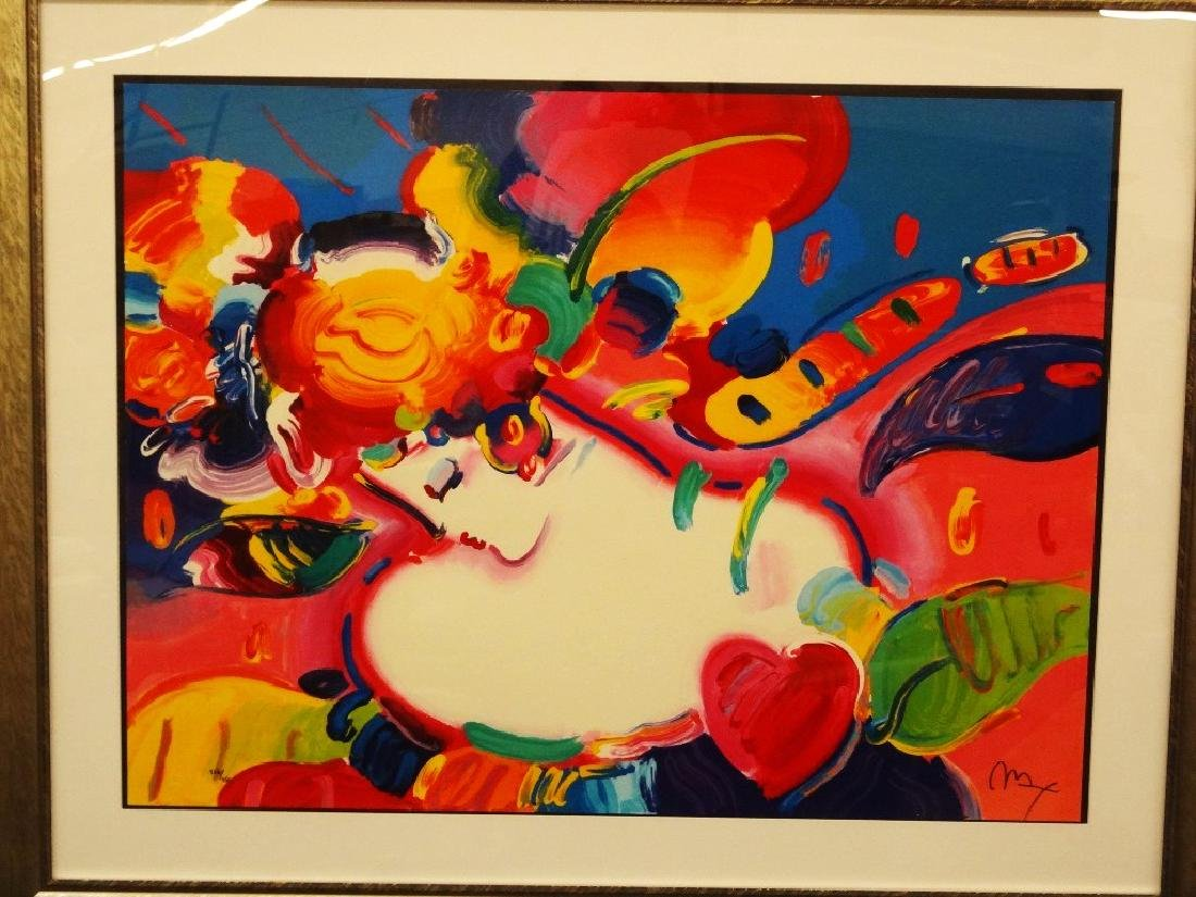 "Peter Max Signed Oversize Serigraph ""Great Flower"