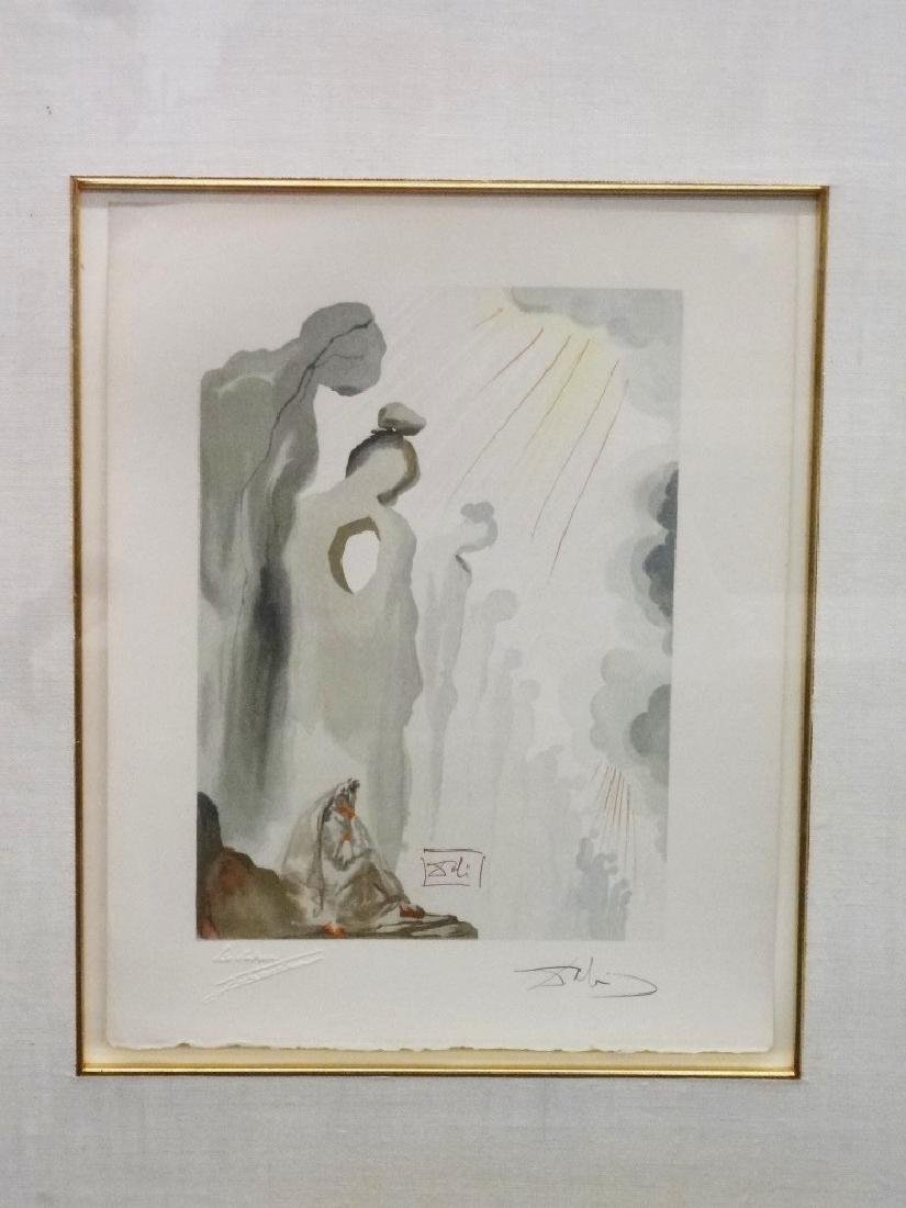 "Salvador Dali Woodcut ""The Second Cornice"" From The"