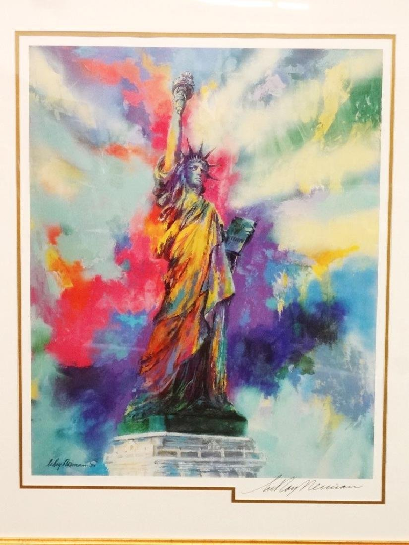 Leroy Nieman Signed Statue of Liberty Framed Lithograph