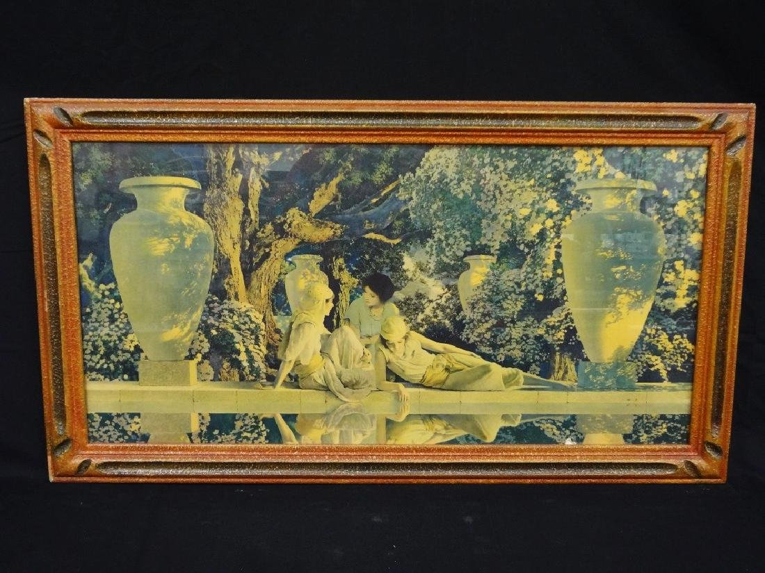 """Maxfield Parrish """"Garden of Allah"""" Lithograph Matted"""