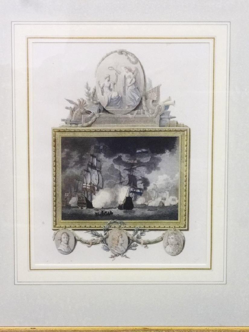 "James Fittler Engraving ""The Defeat of the Dutch Fleet"