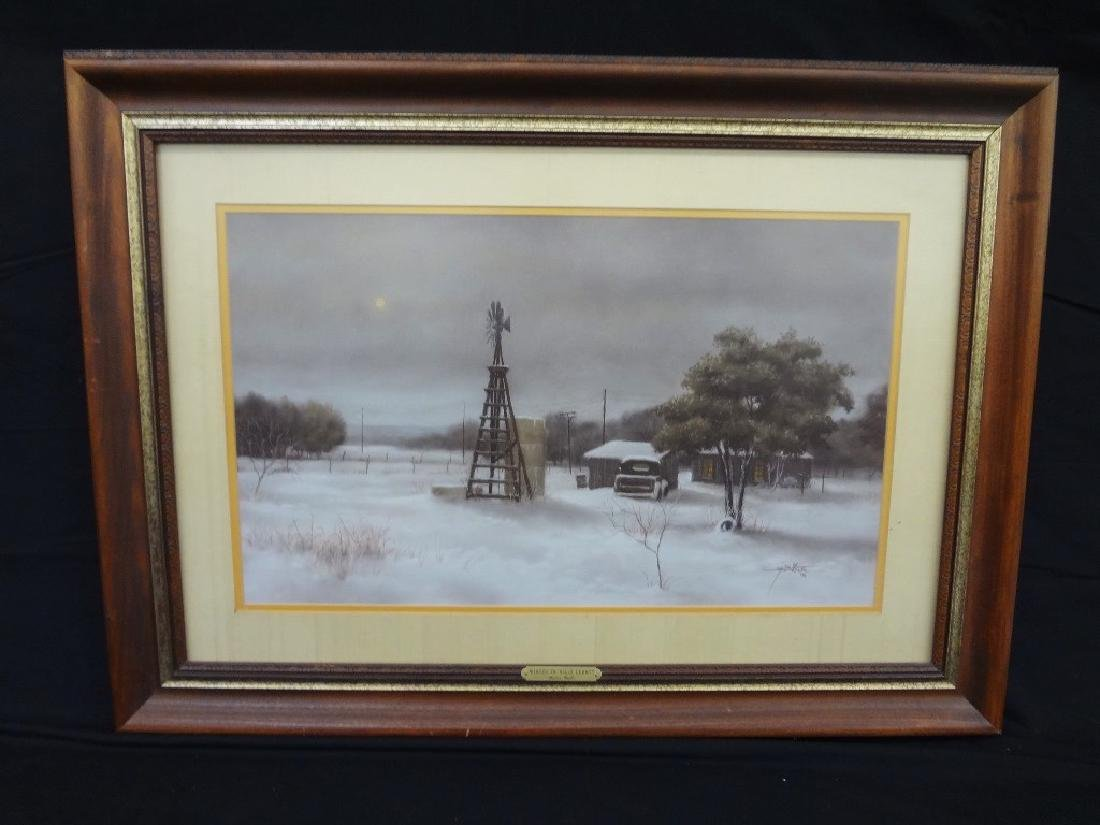 "Martin Grelle Lithograph ""Winter in Mills County"""
