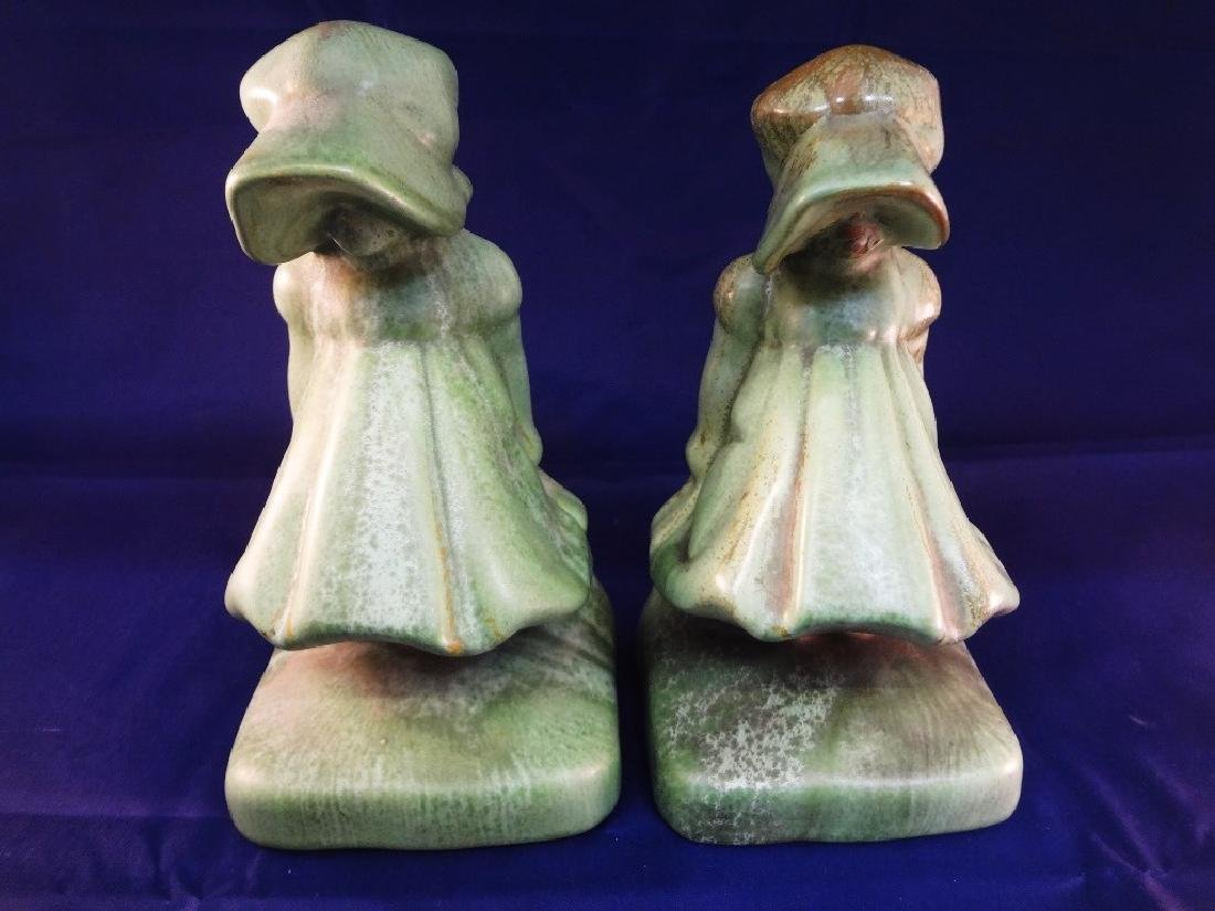 Cowan Pottery Sunbonnet Bookends