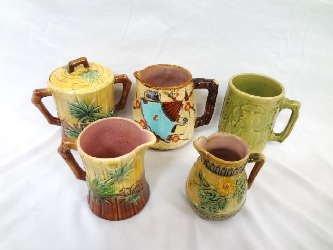 Group of Etruscan English Majolica (5) Pieces