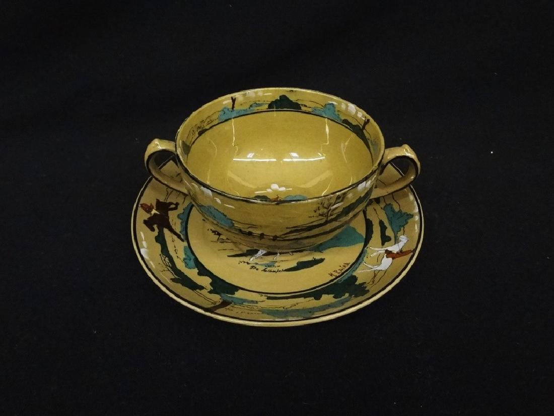 Buffalo Pottery Deldare Pottery 2 Handled Soup Cup and