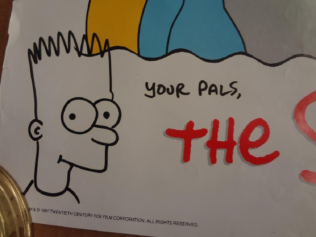The Simpson's Poster Autographed by Matt Groening with - 2