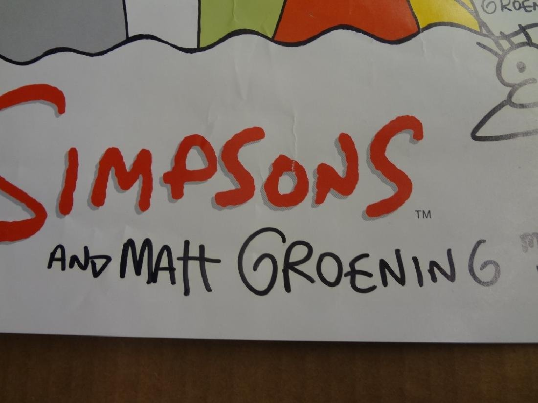The Simpson's Poster Autographed by Matt Groening with - 3