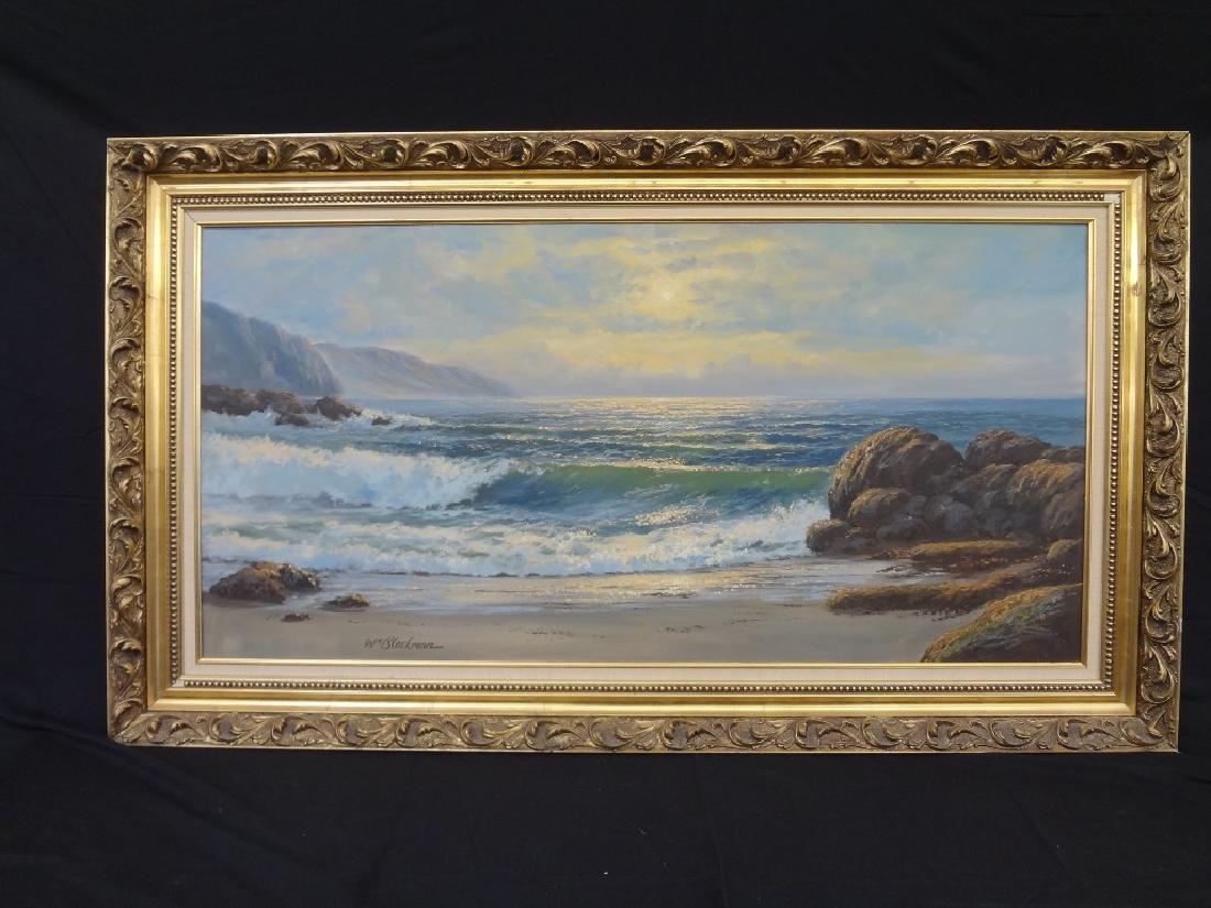 William Blackman Oil on Canvas: Ocean Cliffside