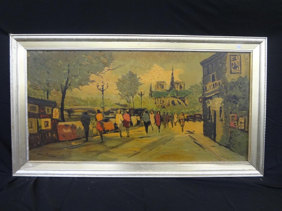 Marcel Derain Oil Painting on Board: French Street