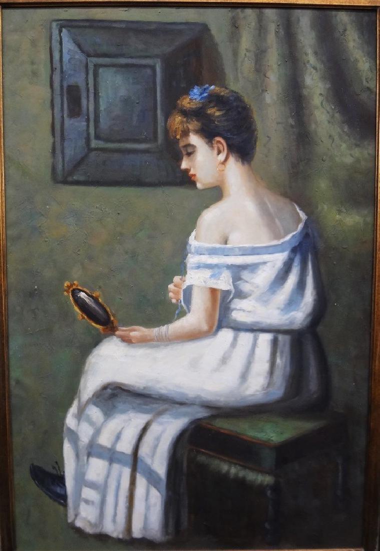 Original Oil Painting Female Portrait No Signature