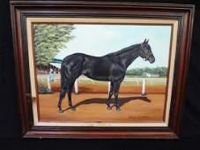 "Marilyn Sadler Original Oil Painting ""Big Sport"" Horse"