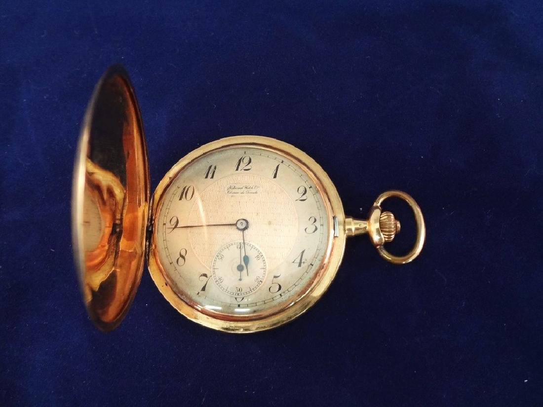 18k Gold National Watch Co. Chaux de-Fonds Pocket Watch