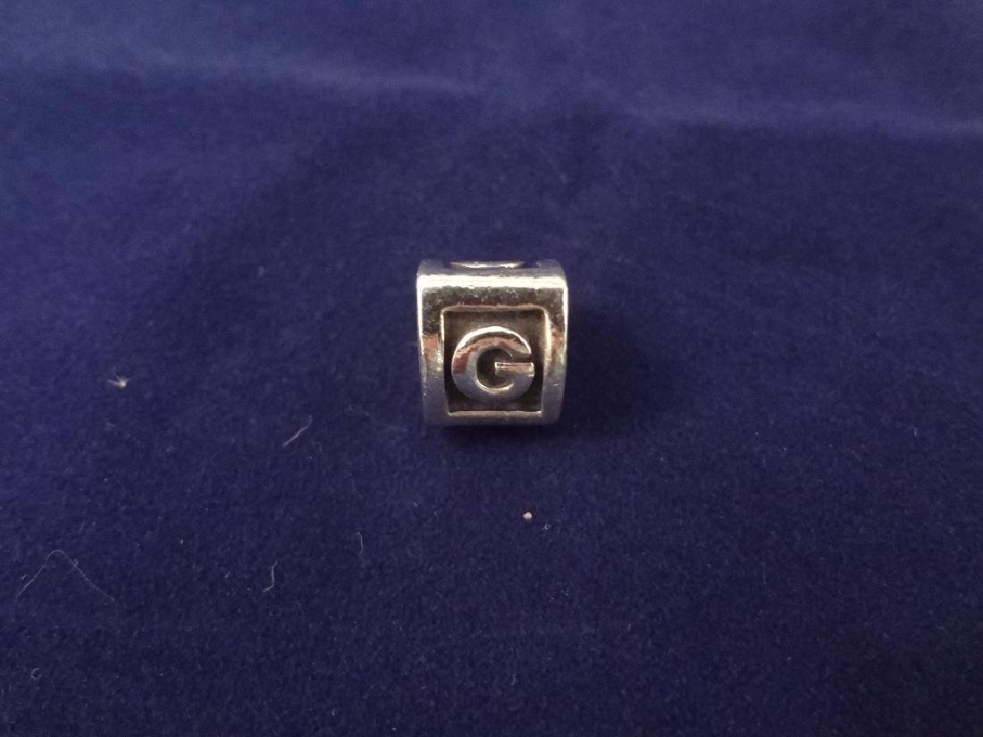 (5) Pandora Sterling Silver Charms: Forever, Stocking, - 3